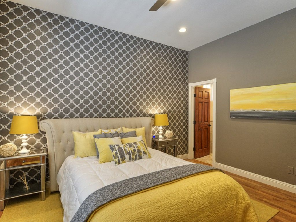 Grey and Yellow Bedroom Ideas