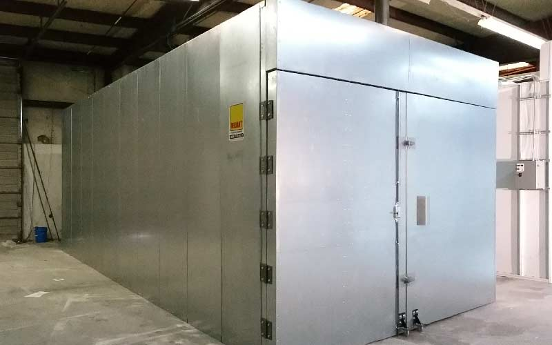 industrial batch curing oven