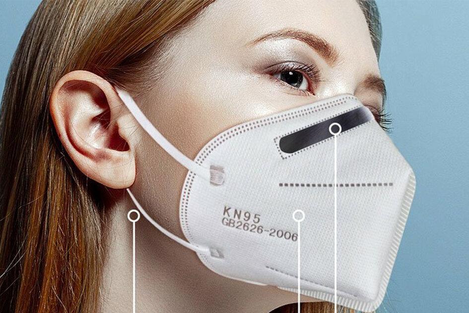 using a KN95 mask
